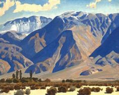 Morning after Snow - Dixon, Maynard (American, 1875 - Fine Art Reproductions, Oil Painting Reproductions - Art for Sale at Galerie Dada Mountain Landscape, Landscape Art, Landscape Paintings, Mountain Art, Watercolor Landscape, Maynard Dixon, Desert Art, Dry Desert, Southwestern Art