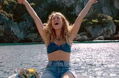 Movie star: Lily will next be seen in the hugely popular on-screen adaptation of Mamma Mia - which will hit UK cinemas on 20 July Mamma Mia, Does Your Mother Know, Ctrl C Ctrl V, Here I Go Again, Lily James, Photocollage, My Vibe, Julia, My Idol