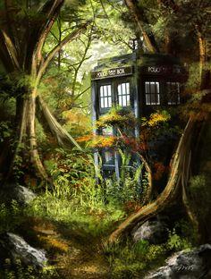 Tardis in the Woods by Jay-R-Took.deviantart.com on @DeviantArt