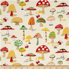 Mushroom World Large Mushroom Cream/Orange