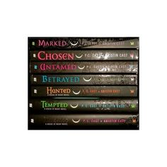 House of Night Series by P. C. Cast Books 1-7 - New and Used -... ❤ liked on Polyvore featuring books, other, random y stuff