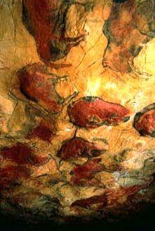 malowidło z jaskini w Altamirze, Hiszpania (paleolit)