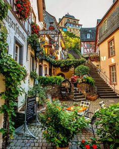 """This fairy tale town is known as the """"Sleeping Beauty"""" of the Moselle Valley 😍 Beilstein, Rheinland-Pfalz, Germany. Photo by ,. Places Around The World, The Places Youll Go, Places To Go, Around The Worlds, Beautiful Places To Visit, Wonderful Places, Beautiful World, Beautiful Scenery, Amazing Places"""