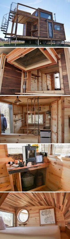 "The ""Honey On The Rocks"" tiny house by Carpenter Owl. Features its very own whiskey still!"