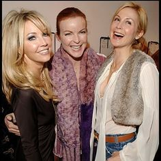 """""""Amanda"""", """"Kimberly"""" and """"Megan"""" Kelly Rutherford, Heather Locklear, Cw Series, Melrose Place, Movie Couples, Classic Series, Green Day, Bon Jovi, Celebs"""