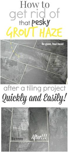 How to remove that darn grout haze that can take so long to clean away! Saving this one for my next tiling project!