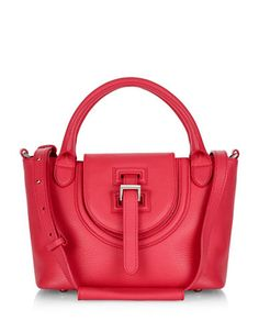 MELI MELO Meli MeloMeli Melo Top Handle Leather Tote Bag. #melimelo #bags #shoulder bags #hand bags #suede #tote #