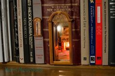 miniature hidden between bookshelf - Google Search