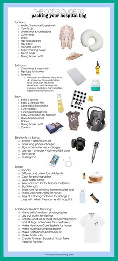 Hospital Bag Checklist | The OCD's Guide to packing a Hospital Bag- Including things you may not think to bring but probably need!