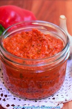 I LOOOOVE Ajvar-Eggplant and Red Pepper spread, seasoning, dip... oh the things you can do!! Add a little chili peppers to make it HOT ! ;-)))