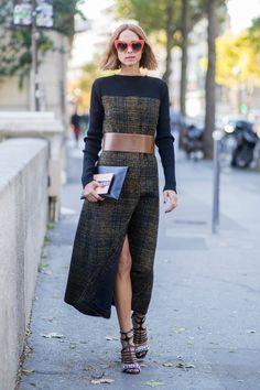 Waist Belt + Statement Sunnies   Street Style #Streetstyle