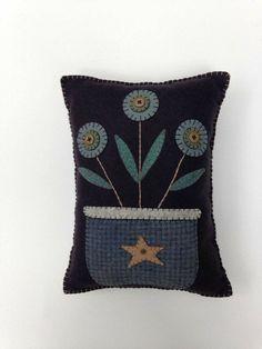 Blue button flowers
