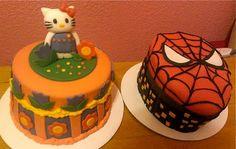 Hello Kitty Cake! Fondant strawberry cake. Girl's birthday! http://cakesbycrystaljoy.blogspot.com/2013/06/hello-kitty-cake.html