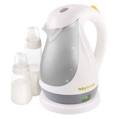 Baby Brezza Kettle $39.99, stays at 96 degrees all day long, fastest way to make a bottle with formula