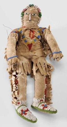 Native American Beaded Doll American