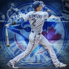 Troy Tulowitzki Toronto Blue Jays Mlb Blue Jays, Baseball Toronto, Troy Tulowitzki, Baseball Canvas, Sports Humor, Funny Sports, Baseball Photography, American League, Toronto Blue Jays