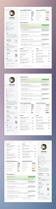 Clean One-Page Resume Modern, Resume and Photoshop - writing one page resume