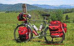 Rob's Surly Long Haul Trucker touring bike. Touring Virginia.