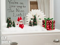 Mirror Message | Elf on the Shelf Ideas
