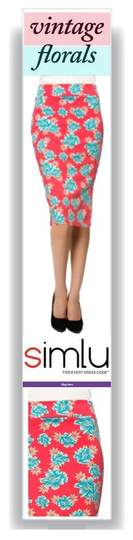 $17.99  Women's Printed Below the Knee Pencil Skirt for Office Wear - Made in USA
