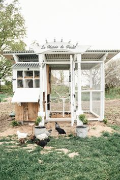 Chicken Coop - DIY Farmhouse Style Chicken Coop Building a chicken coop does not have to be tricky nor does it have to set you back a ton of scratch.
