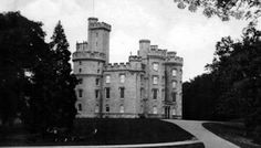 Tour Scotland Photographs: Old photograph of Cluny Castle in Aberdeenshire, Scotland. This Scottish castle is located South of Monymusk and north of Sauchen.