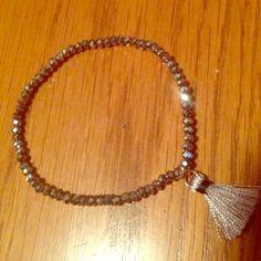 Pretty Grey Bracelet Sparkly grey bracelet Jewelry Bracelets