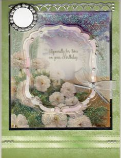 Hunkydory flower card