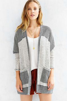 Ecote Colorblock Cardigan - Urban Outfitters