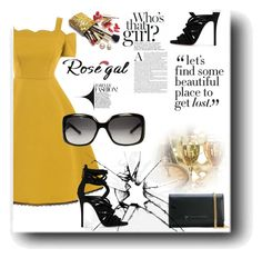 """""""Rosegal"""" by snezanamilunovic ❤ liked on Polyvore featuring Giuseppe Zanotti, Gucci, Guerlain and vintage"""