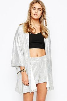 How To Wear Summer's Biggest Trends The Right Way #refinery29  http://www.refinery29.com/summer-2015-fashion-trends#slide-3  Do: While a relaxed fit isn't out of the question, opt for a simple kimono silhouette. This glittery style is eye-grabbing for all the right reasons — a playful shimmer and texture — and not because of overbearing detailing.