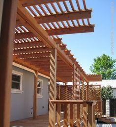❧ Deck over Concrete Patio with Arbor