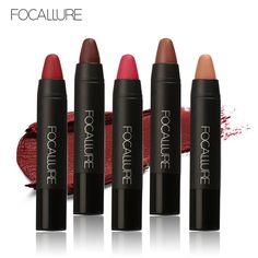 Focallure lápiz labial mate impermeable mágico lápiz lápiz labial de larga duración lip cosmética de maquillaje nude brillo de labios 12 colores disponibles