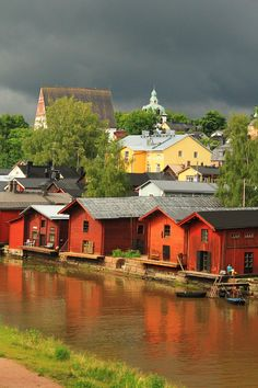 Porvoo by Mari Järvinen on Finland Helsinki, Norway Sweden Finland, Denmark, Finland Destinations, Places To Travel, Places To Visit, Finland Travel, Scandinavian Countries, Famous Places