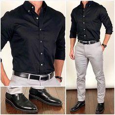 Wedding suits men grey casual guys 21 Ideas for 2019 Formal Men Outfit, Men Formal, Semi Formal Outfits, Mens Fashion Suits, Mens Suits, Mens Casual Dress Fashion, Formal Fashion, Fashion Shirts, Business Casual Men