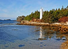 Pennant Harbour Lighthouse, Nova Scotia jigsaw puzzle in Puzzle of the Day puzzles on TheJigsawPuzzles.com