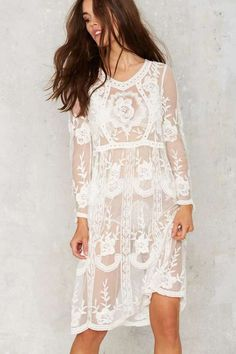 Factory Tavia Lace Midi Dress