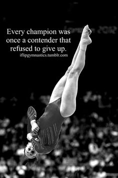 Every champion was once a contender who refused to give up. Gymnastics Problems, Gymnastics Workout, Olympic Gymnastics, Olympic Games, All About Gymnastics, Amazing Gymnastics, Artistic Gymnastics, Gymnastics Stuff, Cheer Quotes