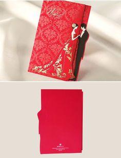 Aliexpress.com: Comprar 30 sets nupcial y el novio boda invitaciones 2015 rojo invitación De corte láser tarjetas con los sobres Convites De Casamento de invitaciones coches fiable proveedores en Sweet Wishmade Wedding