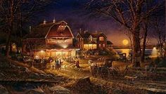 Harvest Moon Ball by Terry Redlin