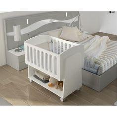 Minicuna Colecho BBcus - Bebés Victoria Baby Rocking Crib, Baby Crib Diy, Baby Doll Nursery, Baby Nursery Bedding, Baby Bassinet, Baby Bedroom, Baby Cribs, Colecho Ideas, Simple Bed Designs