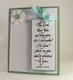 stamping up north: religious cards piercing