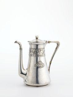 Gustav Gaudernack, Silver Coffee Pot, 1903. Part of larger set with rowanberry motif.