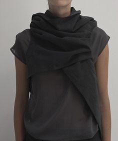 draped collar