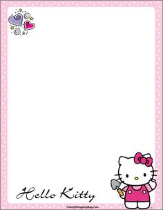 Hello Kitty Gardening Stationery