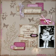 jolie page - Amazingly DIY Scrapbooking Layouts, Scrapbook Pages, Brighter Than Sunshine, Reportage Photo, General Crafts, Tampons, Unique Photo, Moment, Creative Inspiration
