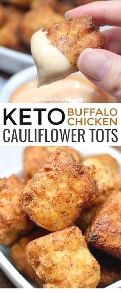 Diet Recipes Crispy, cheesy, and totally crave-able! They taste so good you'd hardly believe these Buffalo Chicken Keto Cauliflower Tots are guilt-free! - Crispy, cheesy Buffalo Chicken Keto Cauliflower Tots are guilt-free and totally crave-able! Healthy Diet Recipes, Ketogenic Recipes, Cooking Recipes, Vegetarian Recipes, Cooking Tips, Keto Meals Easy, Good Keto Snacks, Healthy Food, Atkins Recipes