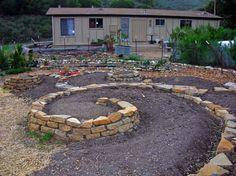 Earthflow  design works Spiral Garden bed