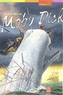 Capa de Moby Dick, a baleia branca de Helman Melville.