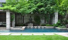 Great pool - check out limestone wall w/ waterfall in it close-up nearby  Three Dogs in a Garden: How the Other Half Garden